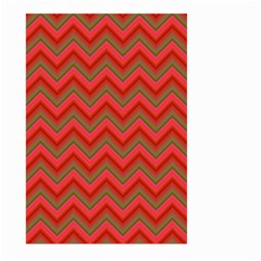 Background Retro Red Zigzag Large Garden Flag (two Sides) by Nexatart