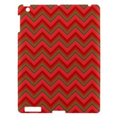 Background Retro Red Zigzag Apple Ipad 3/4 Hardshell Case by Nexatart