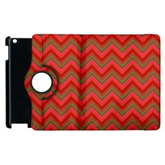 Background Retro Red Zigzag Apple Ipad 2 Flip 360 Case
