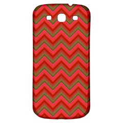 Background Retro Red Zigzag Samsung Galaxy S3 S Iii Classic Hardshell Back Case