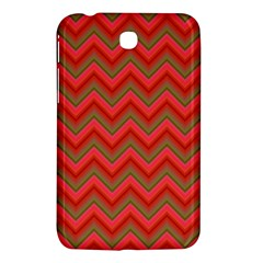 Background Retro Red Zigzag Samsung Galaxy Tab 3 (7 ) P3200 Hardshell Case