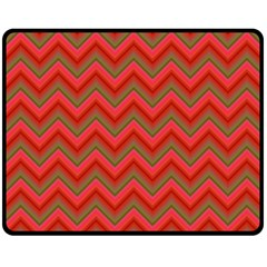 Background Retro Red Zigzag Double Sided Fleece Blanket (medium)