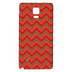 Background Retro Red Zigzag Galaxy Note 4 Back Case