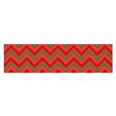 Background Retro Red Zigzag Satin Scarf (oblong) by Nexatart