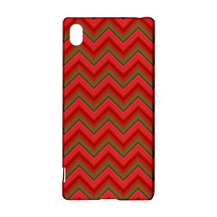 Background Retro Red Zigzag Sony Xperia Z3+ by Nexatart