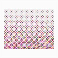 Pattern Square Background Diagonal Small Glasses Cloth by Nexatart