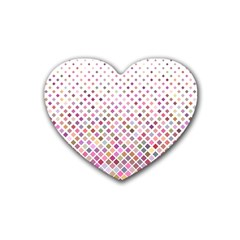 Pattern Square Background Diagonal Heart Coaster (4 Pack)