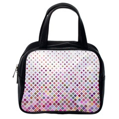Pattern Square Background Diagonal Classic Handbags (one Side)