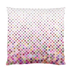 Pattern Square Background Diagonal Standard Cushion Case (one Side)