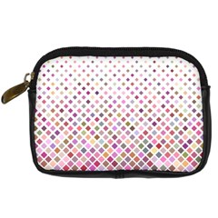 Pattern Square Background Diagonal Digital Camera Cases