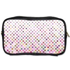 Pattern Square Background Diagonal Toiletries Bags