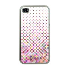 Pattern Square Background Diagonal Apple Iphone 4 Case (clear)