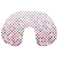 Pattern Square Background Diagonal Travel Neck Pillows