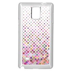 Pattern Square Background Diagonal Samsung Galaxy Note 4 Case (white)