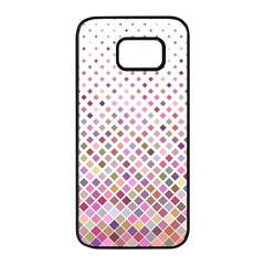 Pattern Square Background Diagonal Samsung Galaxy S7 Edge Black Seamless Case