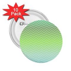 Green Line Zigzag Pattern Chevron 2 25  Buttons (10 Pack)  by Nexatart
