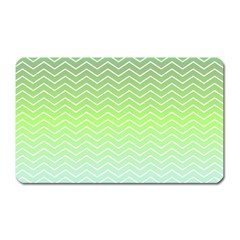 Green Line Zigzag Pattern Chevron Magnet (rectangular)