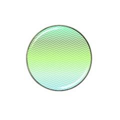 Green Line Zigzag Pattern Chevron Hat Clip Ball Marker (10 Pack)