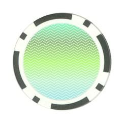 Green Line Zigzag Pattern Chevron Poker Chip Card Guard (10 Pack)