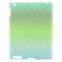 Green Line Zigzag Pattern Chevron Apple Ipad 3/4 Hardshell Case