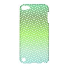 Green Line Zigzag Pattern Chevron Apple Ipod Touch 5 Hardshell Case