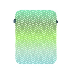 Green Line Zigzag Pattern Chevron Apple Ipad 2/3/4 Protective Soft Cases