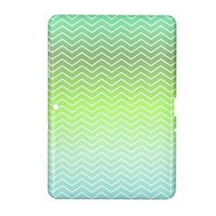 Green Line Zigzag Pattern Chevron Samsung Galaxy Tab 2 (10 1 ) P5100 Hardshell Case