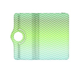 Green Line Zigzag Pattern Chevron Kindle Fire Hdx 8 9  Flip 360 Case