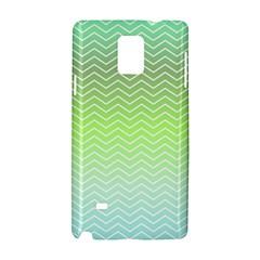 Green Line Zigzag Pattern Chevron Samsung Galaxy Note 4 Hardshell Case