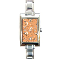 Lion Pattern Wallpaper Vector Rectangle Italian Charm Watch