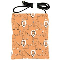 Lion Pattern Wallpaper Vector Shoulder Sling Bags