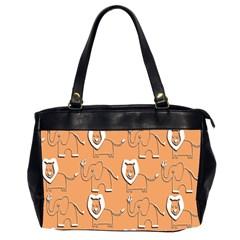 Lion Pattern Wallpaper Vector Office Handbags (2 Sides)  by Nexatart