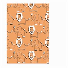 Lion Pattern Wallpaper Vector Large Garden Flag (two Sides)