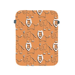 Lion Pattern Wallpaper Vector Apple Ipad 2/3/4 Protective Soft Cases