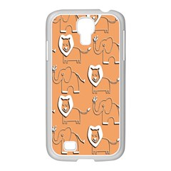 Lion Pattern Wallpaper Vector Samsung Galaxy S4 I9500/ I9505 Case (white)