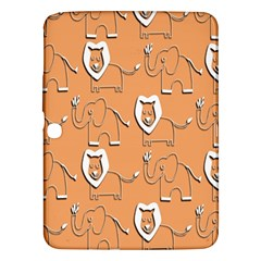 Lion Pattern Wallpaper Vector Samsung Galaxy Tab 3 (10 1 ) P5200 Hardshell Case