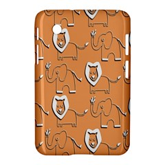Lion Pattern Wallpaper Vector Samsung Galaxy Tab 2 (7 ) P3100 Hardshell Case