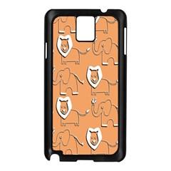 Lion Pattern Wallpaper Vector Samsung Galaxy Note 3 N9005 Case (black) by Nexatart