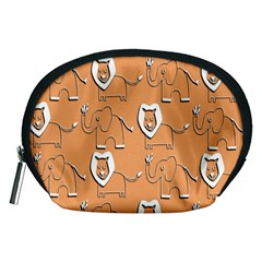 Lion Pattern Wallpaper Vector Accessory Pouches (medium)