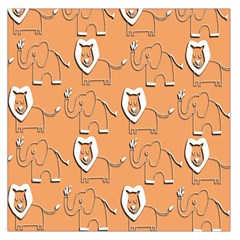 Lion Pattern Wallpaper Vector Large Satin Scarf (square)