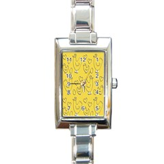 Chicken Chick Pattern Wallpaper Rectangle Italian Charm Watch