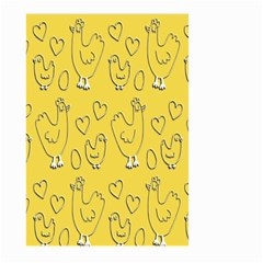 Chicken Chick Pattern Wallpaper Large Garden Flag (two Sides)