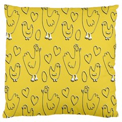 Chicken Chick Pattern Wallpaper Large Cushion Case (one Side) by Nexatart