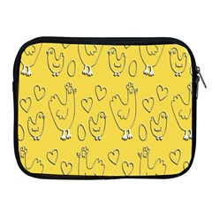 Chicken Chick Pattern Wallpaper Apple Ipad 2/3/4 Zipper Cases