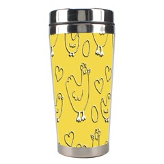 Chicken Chick Pattern Wallpaper Stainless Steel Travel Tumblers