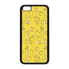 Chicken Chick Pattern Wallpaper Apple Iphone 5c Seamless Case (black) by Nexatart