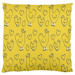 Chicken Chick Pattern Wallpaper Standard Flano Cushion Case (two Sides)