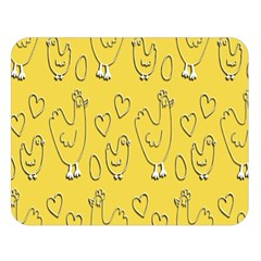Chicken Chick Pattern Wallpaper Double Sided Flano Blanket (large)  by Nexatart