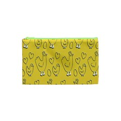 Chicken Chick Pattern Wallpaper Cosmetic Bag (xs)