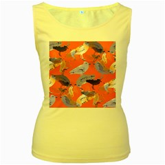 Seagull Gulls Coastal Bird Bird Women s Yellow Tank Top